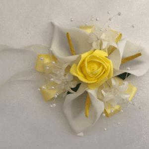 calla lily wrist corsage