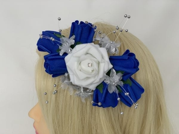 luxury hair comb royal blue