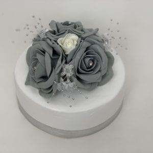 grey cake topper