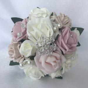 small bridesmaid brooch bouquet
