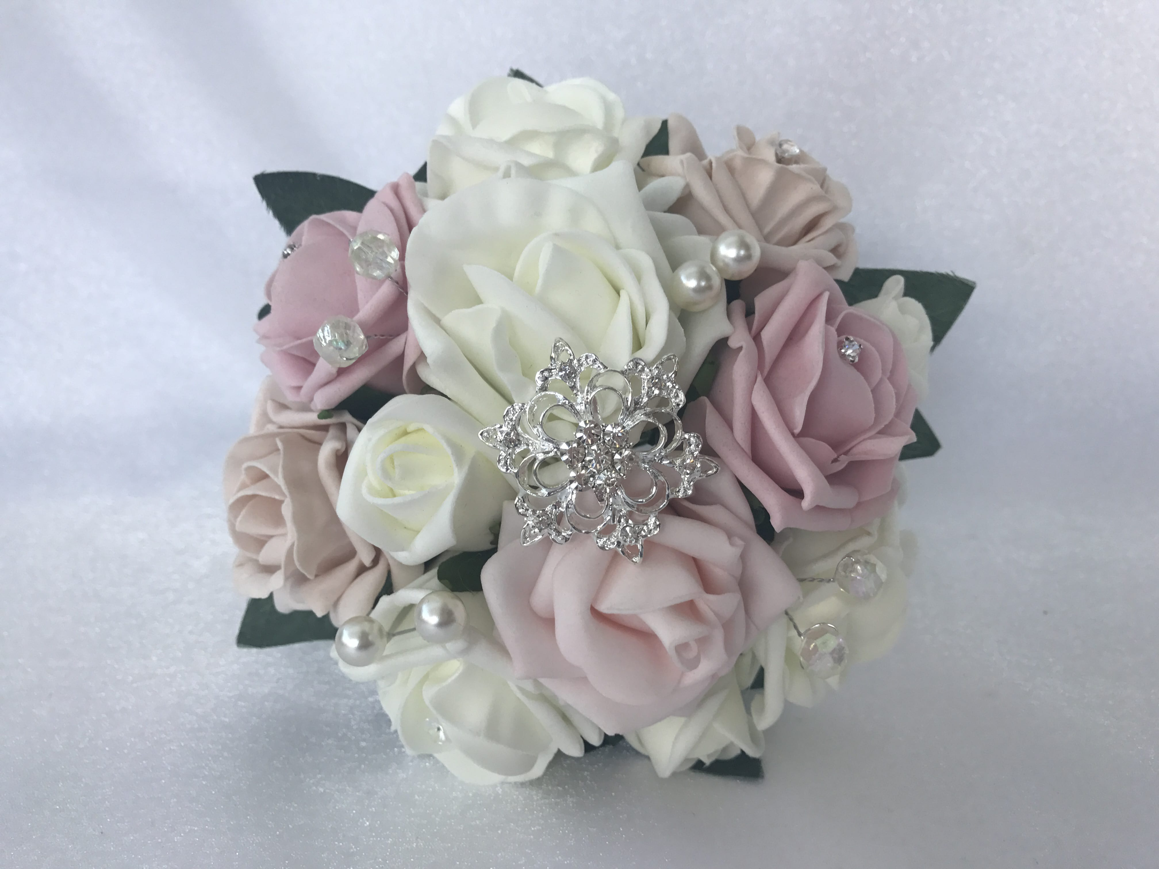 Bridal Bouquets Bridesmaid Wedding Flowers Aqua Brooch Bouquet