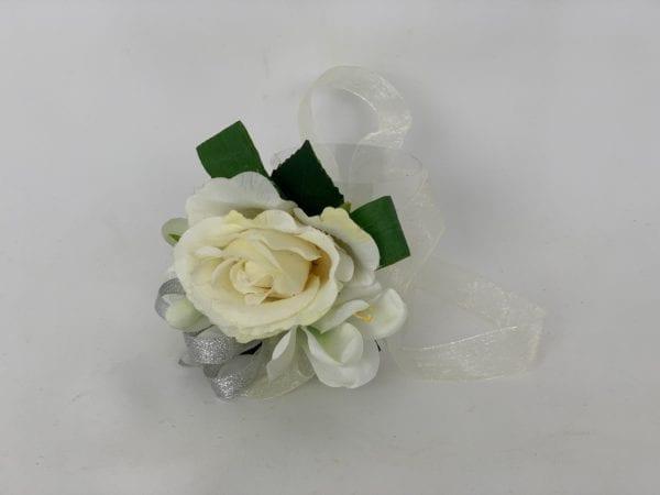 ivory wrist corsage