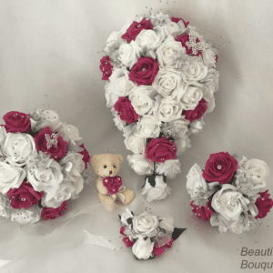 Artificial Wedding Bouquets - Hot Pink