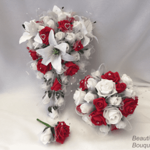 star lily wedding bouquets