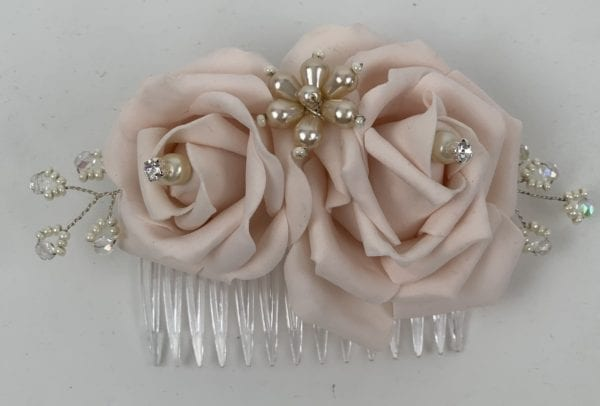 hair comb with pearls