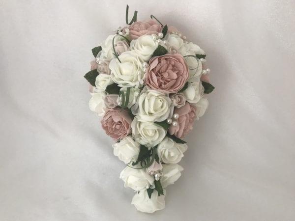 artificial wedding bouquet brides teardrop
