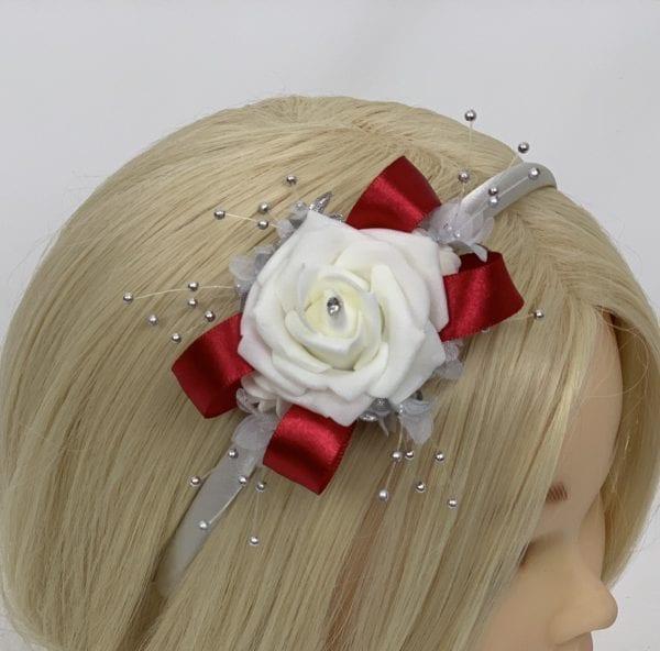 side headband red