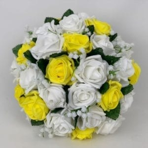 Artificial Wedding Flowers Brides Posy Gypsophila Yellow