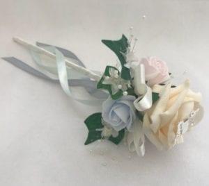 Artificial Wedding Flowers Flower Girl Wand Butterfly Pastels