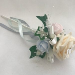 Artificial Wedding Flowers Flower Girl Wand Butterfly Pastels