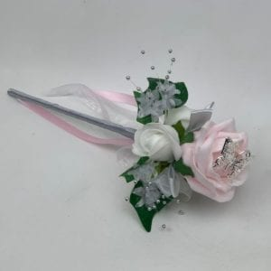 Artificial Wedding Flowers Flower Girl Wand Pink