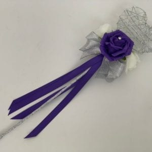 Artificial Wedding Flowers Flower Girl Wand Purple