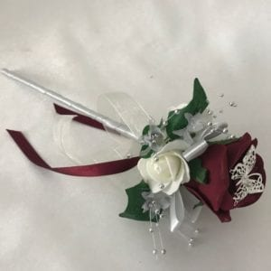 Artificial Wedding Flowers Flowergirl Wand Red