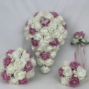 Artificial Wedding Flowers Package Butterfly Pink
