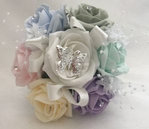 Artificial Wedding Flowers Small Bridesmaid Posy Pastels