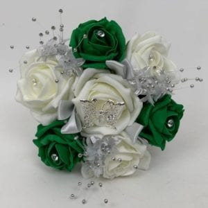 Artificial Wedding Flowers Small Pomander Green