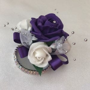 Artificial Wedding Flowers Wrist Corsage Diamante Bracelet