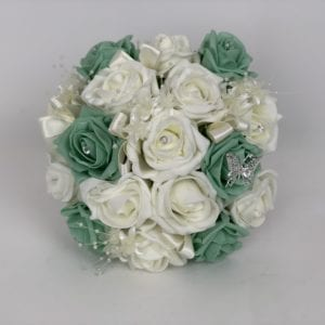 medium bridesmaid posy mint