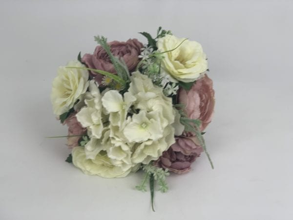 silk flowers brides posy
