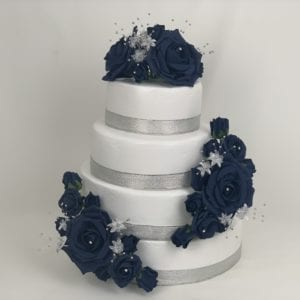 Navy Flower Cake Topper