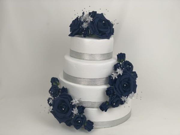 Navy Flower Cake Topper