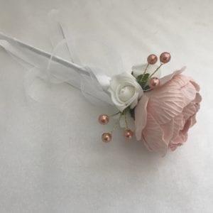 peony flower girl wand