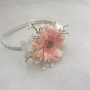 side headband with gerbera