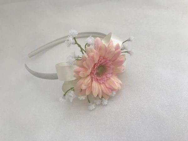 side headband with gerbera
