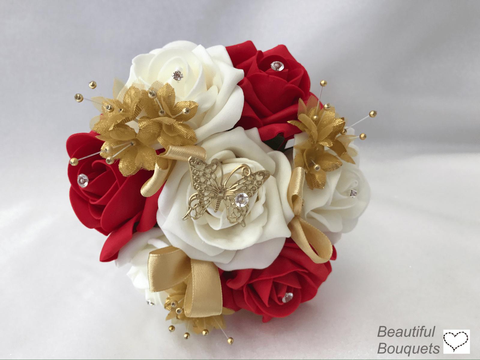 Small Artificial Wedding Flowers Bridesmaid Bouquet Posy
