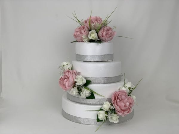wedding cake peony cake topper