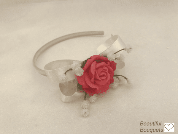 side headband with gypsophila