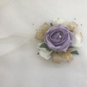 wrist corsage lilac