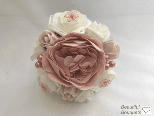 small rose gold peony bouquet