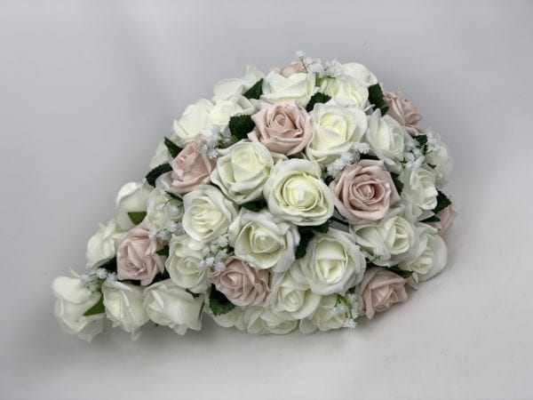 Artificial wedding flower - brides teardrop with gypsophila