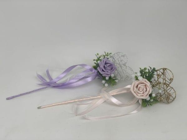 flower girl heart wand
