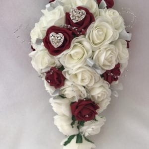 Artificial brides bouquet hearts