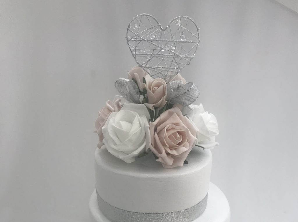silk flowers for wedding cake uk artificial wedding cake topper beautiful bouquets 19839