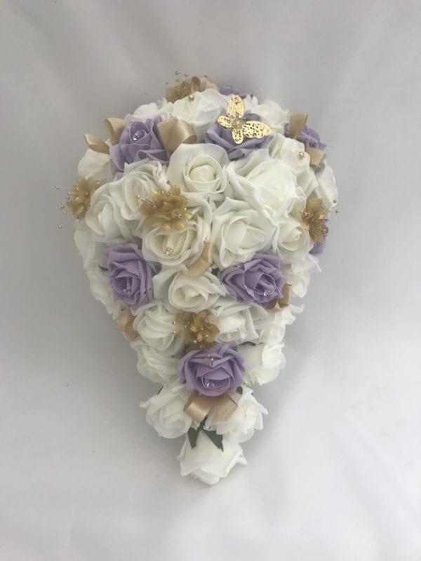 brides teardrop lilac
