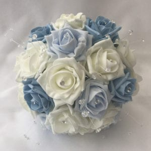 Artificial Bridesmaid Bouquet Posy Crystals Diamantes and Roses 3 colours