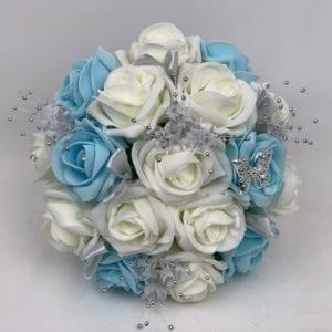 Artificial Bridesmaid Bouquet Posy Silver Flower Sprays