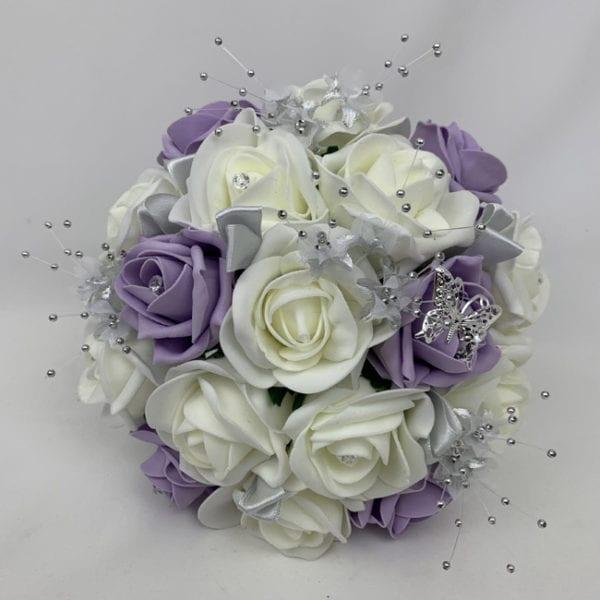 Artificial Bridesmaid Bouquet Posy - Silver Flower Sprays
