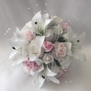 Artificial Bridesmaid Bouquet Posy Star Lillies