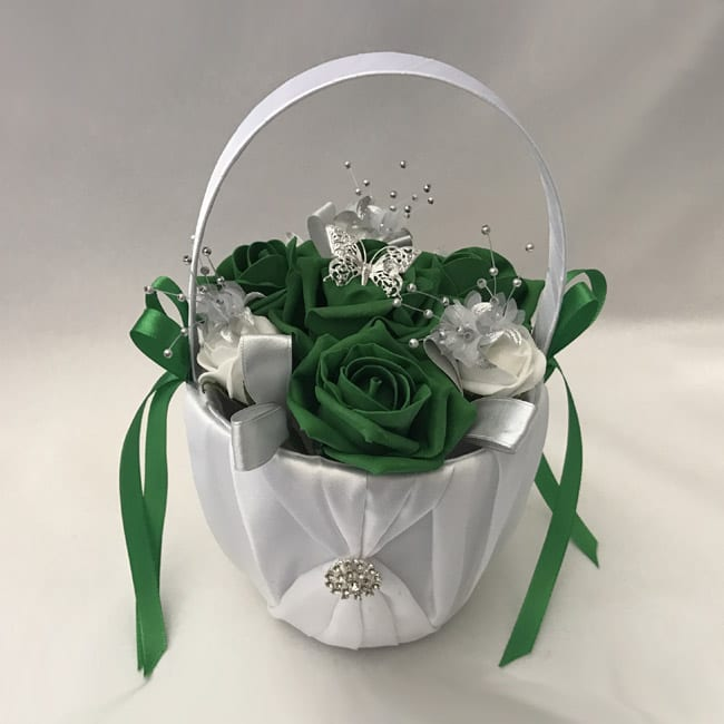 0fb4e6906c Artificial Bridesmaid Flower Girl Basket - BEAUTIFUL BOUQUETS