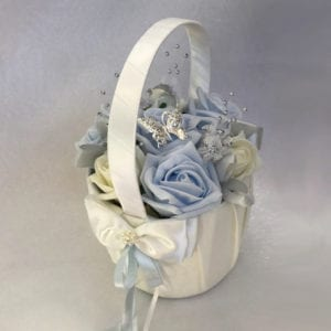 Artificial Wedding Flowers Flower Girl Basket