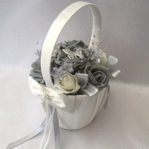 Artificial Wedding Flowers Flower Girl Basket