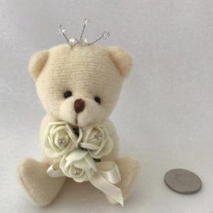 Artificial Wedding Flowers Prom Wrist Corsage Flower Girl Teddy Bear