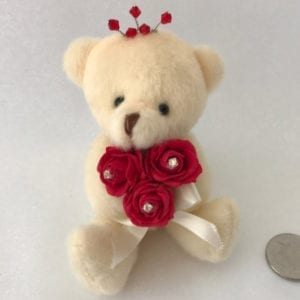 Artificial Wedding Flowers Prom Wrist Corsage Flower Girl Teddy Bear