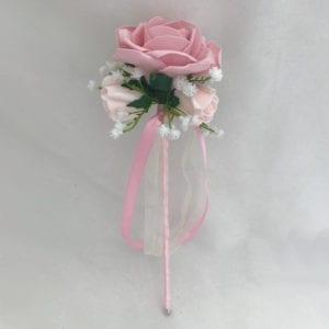 Artificial Bridesmaid Flower Girl Wand Gypsophila Pink