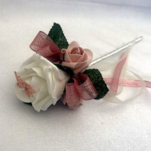 Artificial Wedding Flowers Flower Girl Wand Rose Gold Butterfly