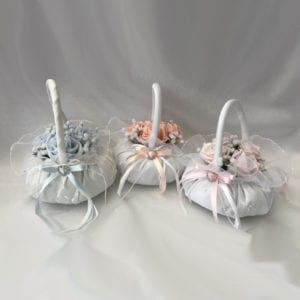 Artificial Bridesmaid Posy Flower Girl Basket Diamante